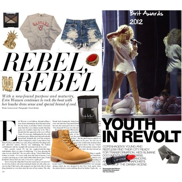 Rihanna Brit Awards 2012-Inspired Look, created by ciceflyyest
