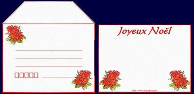 carte et enveloppe imprimer fete de noel printable cards pinterest no l. Black Bedroom Furniture Sets. Home Design Ideas