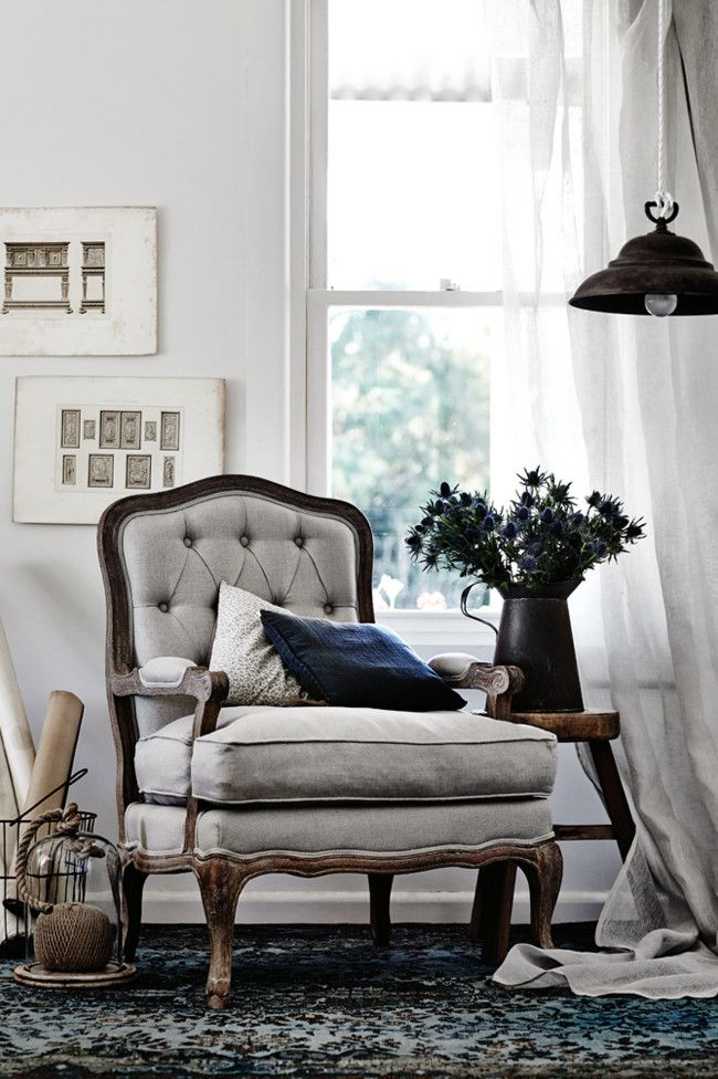 Country Style 'Knightsbridge' armchair, $999, from Domayne.    Like the look?For more gorgeous...