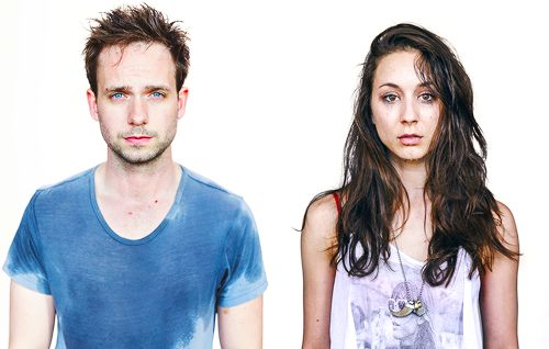 Troian Bellisario and Patrick J. Adams photographed by Zack...