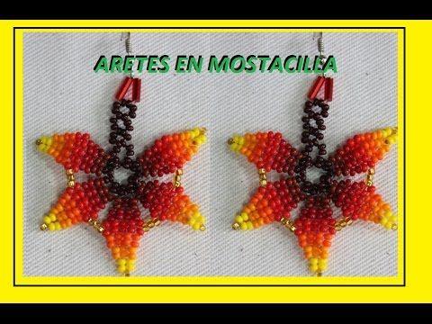 Aretes en mostacilla 22 - YouTube