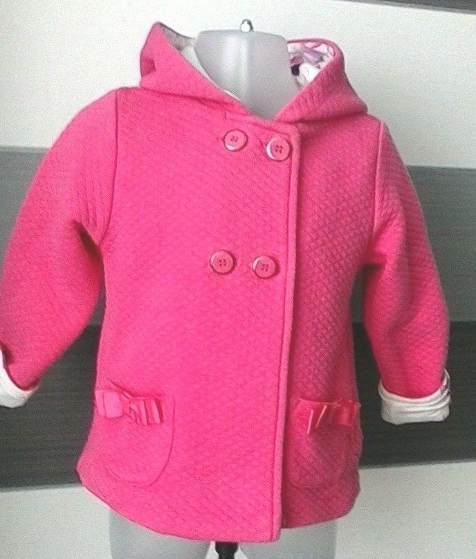 3c2b4f79d264 Baby Girls Pink Ted Baker Jacket Coat With Hood 18-24 Months  TedBaker  Coat