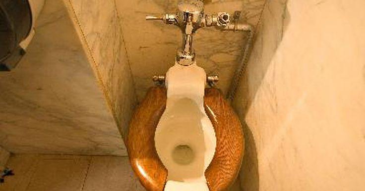 El espacio típico de la brida del inodoro a una pared. La brida del inodoro es el ajuste que fija el inodoro al piso. Se compone de un tubo de drenaje y un collar plano que se coloca en el suelo. Este ajuste se encuentra a una medida estándar de la pared, lo suficiente para permitir que el inodoro quepa en la parte superior sin golpear contra la pared.