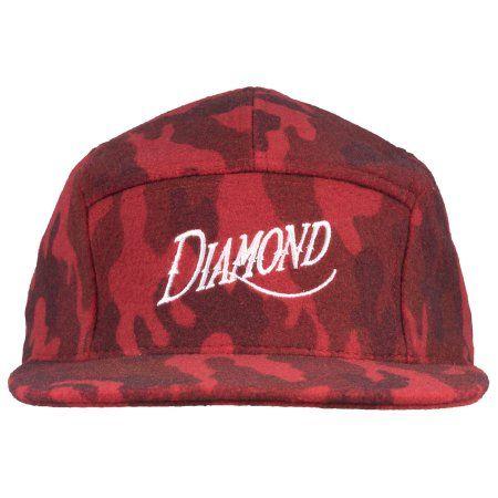 ba85e9bf Diamond Supply Camo Wool 5 Panel Strapback Hat Headwear Cap Lid Fashion Mens  Red #diamondsupply
