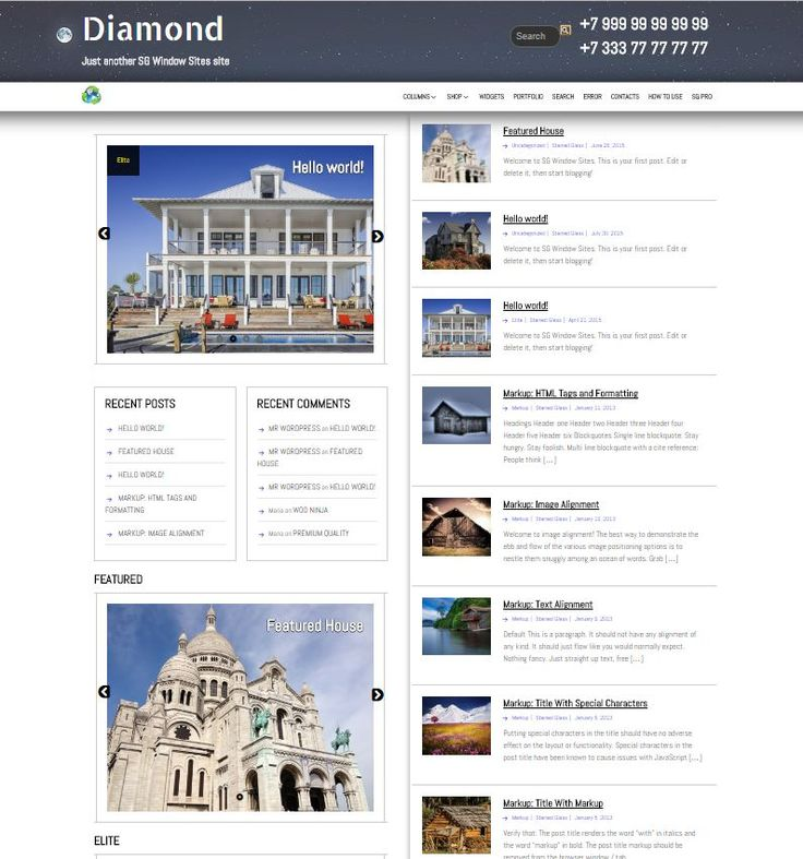 Адаптивный шаблон для сайта о недвижимости, можно использовать как для продажи домов, квартир, так и просто выкладывать обзоры исторических зданий. Это дочерняя тема для SG-window. Шаблон проверен и одобрен командой wordpress.org и находится в их депозитарии. Рекомендовано к установке на сайты: Свойства темы Скрин футера Демо: http://wpblogs.info/demo/diamond/ Скачать шаблон Диамонд Шаблоны от этого же …
