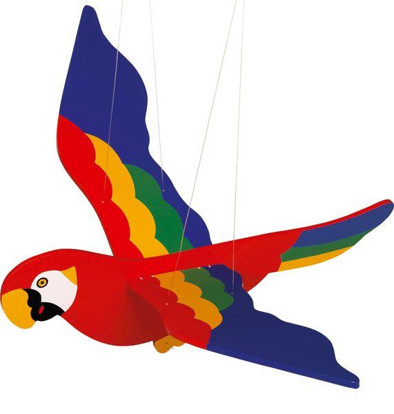 Hawaii feest? Koop 8e verjaardag in de Hawaii feestwinkel, zoals Houten hangdecoratie papegaai 56 cm. Hawaii party feestartikelen, versiering en kleding.