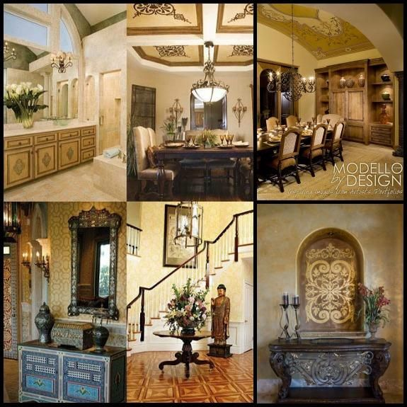 108 best Living + Dining Room Stenciling images on Pinterest - royal home decor