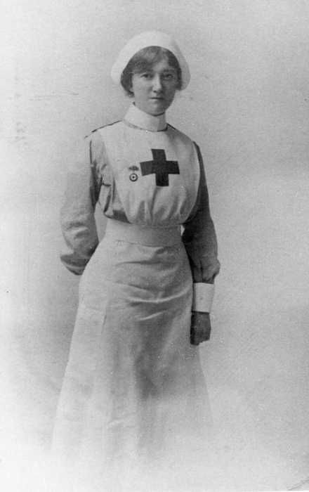 Photograph of a Nurse, by Pte. 2393 John Clarke Morten, 1/7th Bn. Manchester Regiment,  commissioned 2nd Lieutenant & later attached to the Royal Air Force, 1914-1918 / First World War Poetry Digital Archive