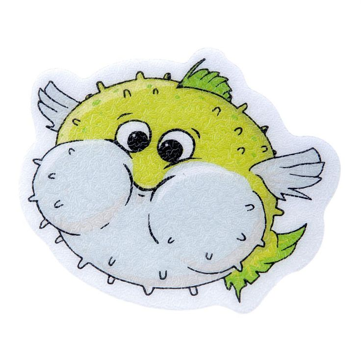 SlipX Solutions Puffer Fish Tub Tattoos (5-Count), Green