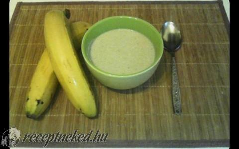 Banánleves recept fotóval