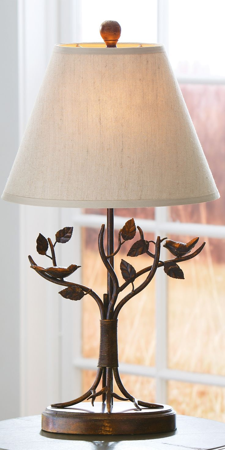 Imax bf carey table lamp hautelook - A Masterful Arts And Crafts Style Our Aviary Table Lamp Features A Birds On