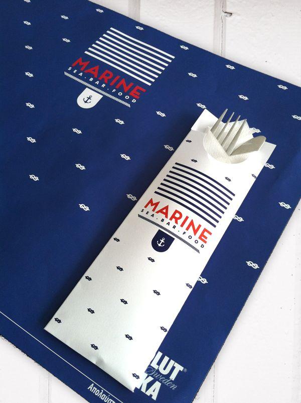 MARINE sea.bar.food identity on Behance