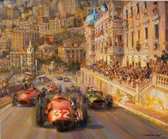 Monaco Magic Auto racing art Automotive art