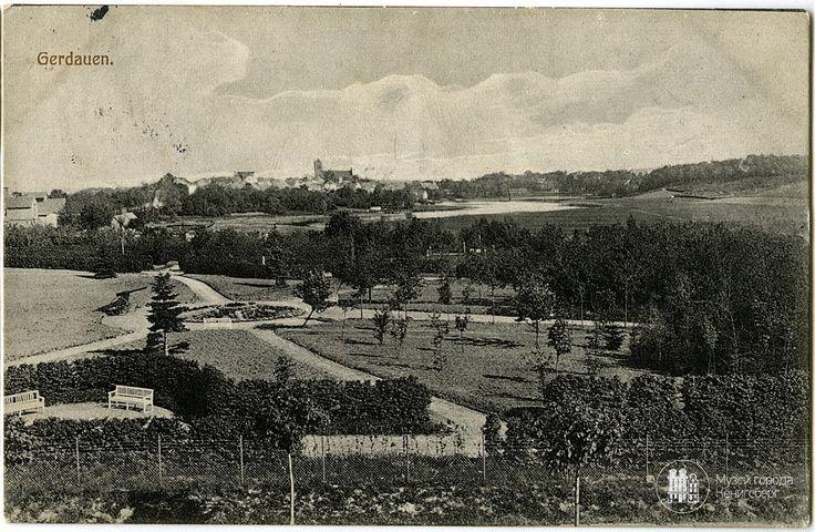 Гердауен – Железнодорожный. Панорама города. Фото ок. 1900 г.
