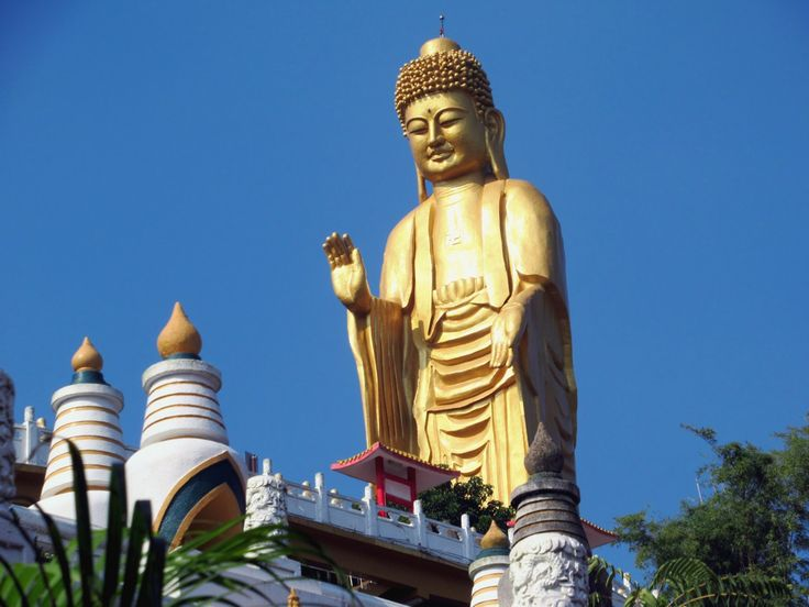 The 36-meter-high Great Buddha (1975) at Fo Guang Shan Monastery near Kaohsiung, Taiwan, is one of the largest Buddha statues in South East Asia.