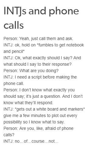 Ok but I'm actually terrified of phone calls and stuff like that how did they know lmao?