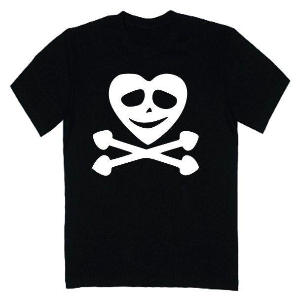 T-shirt męski - czaszka kier z FamilyInBlack.pl
