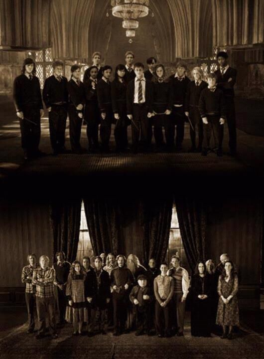 Dumbledore's Army and the Order of the Phoenix: two generations of Hogwarts