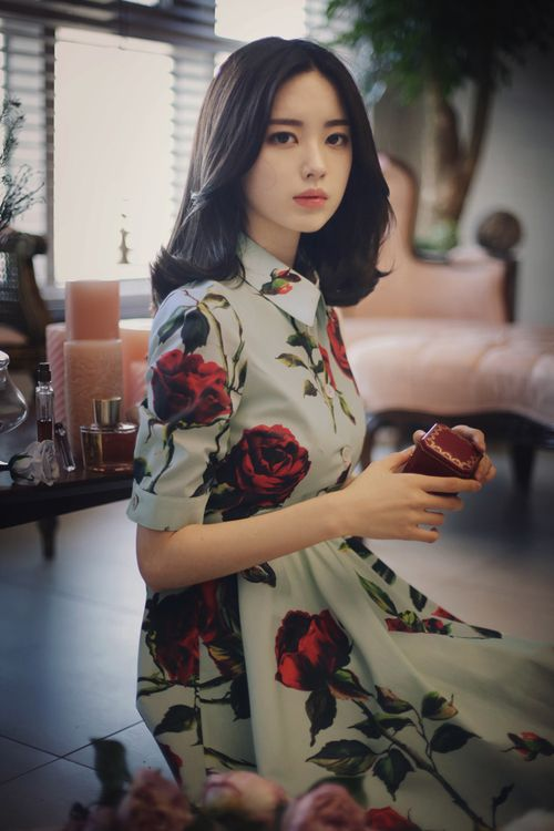 beautiful, korean, and clothe imageの画像