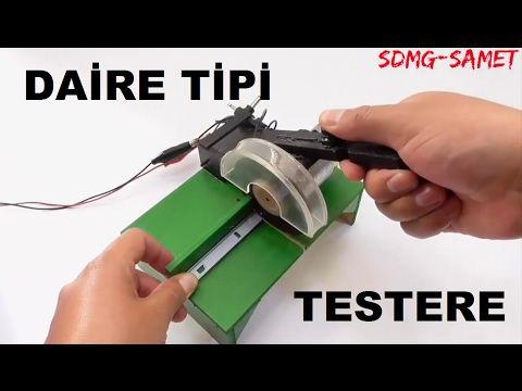 Elektrikli mini testere yapımı - mükemmel bir çalışma herkez yapabilir - YouTube