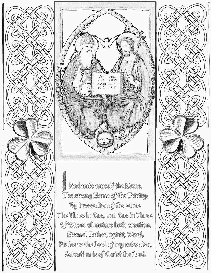 christian st patrick coloring pages - photo#17