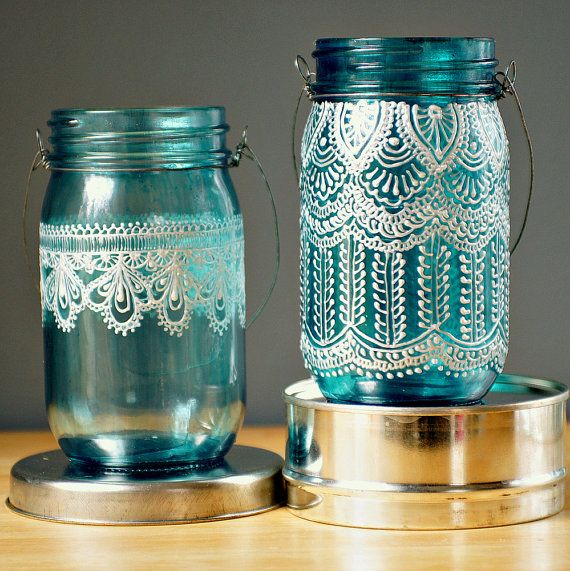 mason jars painted - photo #30