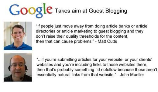 There's lots of buzz about Google and guest blogging for links lately. Should we be concerned? Read on to find out...