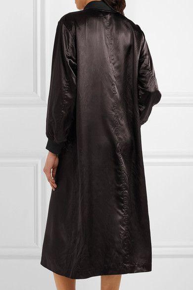 Comme des Garçons Comme des Garçons - Oversized Satin Jacket - Black - x small