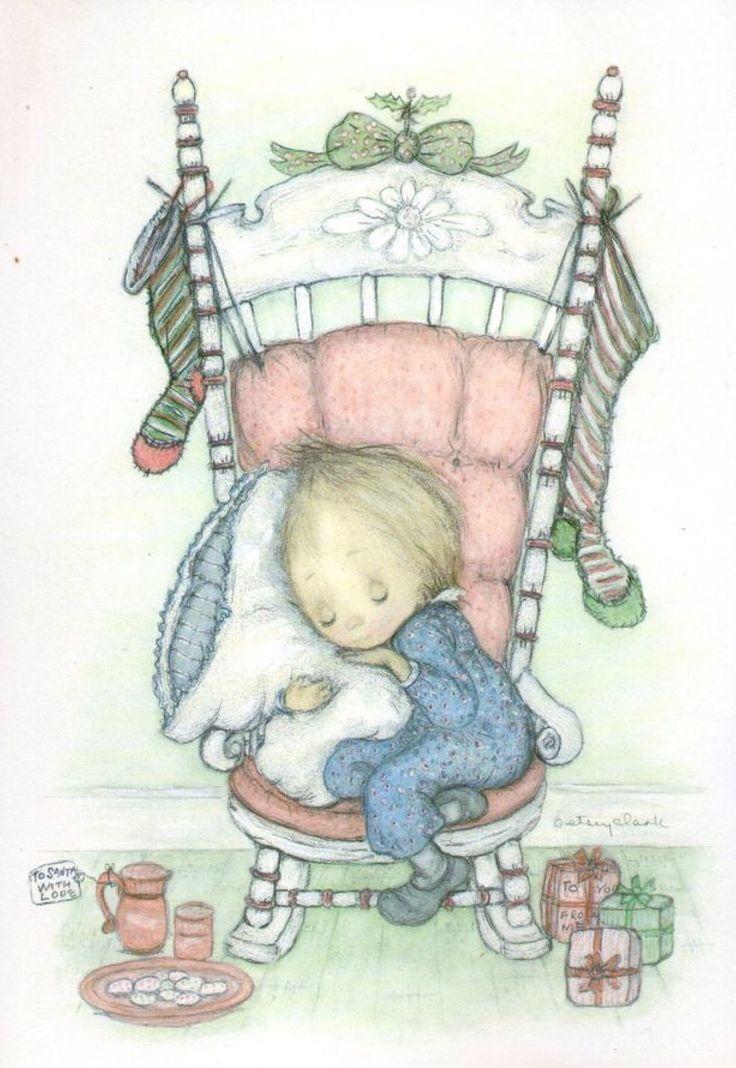Vintage Betsy Clark Christmas card