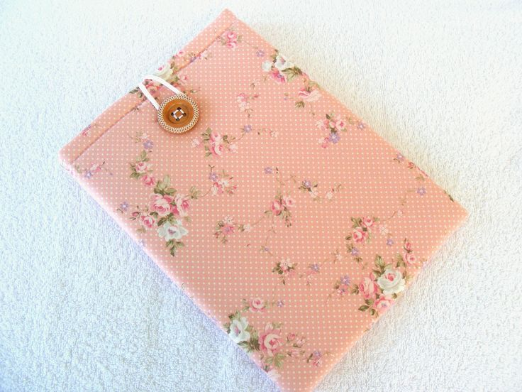 "Pretty Peach Floral Kindle DX, Kindle DX White, Samsung Galaxy Tab2 Cover Sleeve. Very Shabby Chic Print, 12""x 8 1/2"" by LindaLeasBoutique on Etsy"