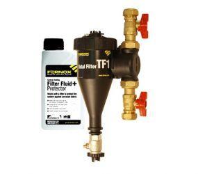 Fernox Total Filter TF1 28mm rendszerbe építhető kombinált mágnes/finomszűrő + F1 folyadék