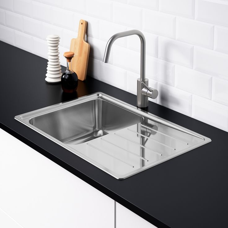 Vattudalen Single Bowl Top Mount Sink Stainless Steel Ikea Inset Sink Stainless Steel Kitchen Sink Sink
