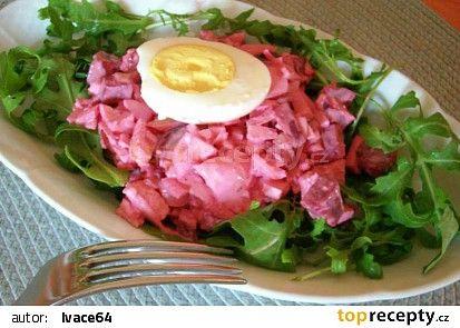 Salát z červené řepy s tofu recept - TopRecepty.cz