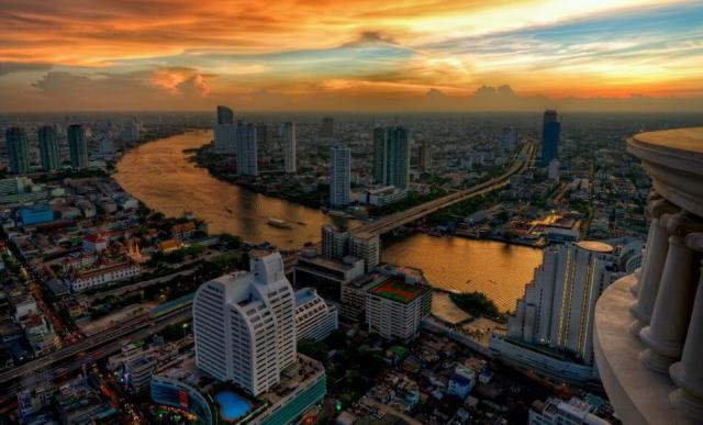 Bangkok. The capital city of  Thailand and the most populous city in the country. It is known in Thai as Krung Thep Maha Nakhon or simply Krung Thep .The city is in the Chao Phraya River delta in Central Thailand, and has a population of over eight million.