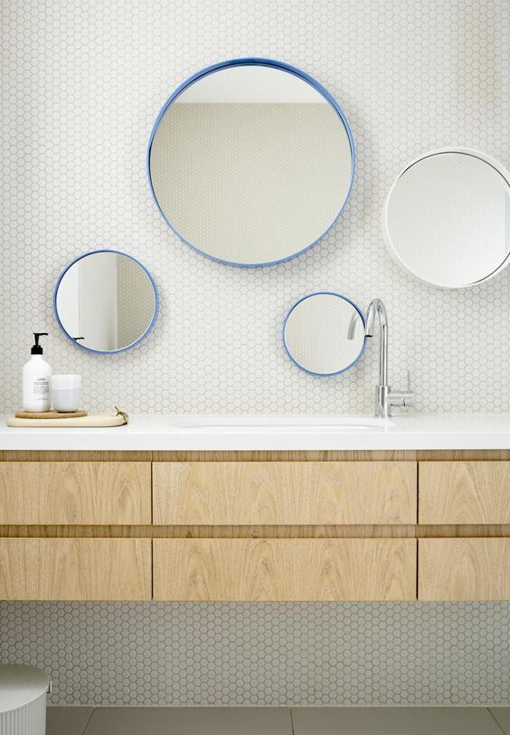 Bathroom Mirrors Vancouver Bc 29 best shapes | penny round tile images on pinterest | bathroom