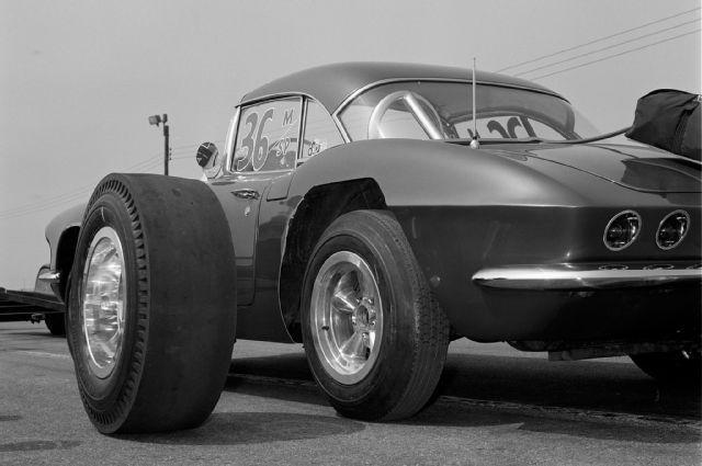 1961 Chevrolet Corvette Drag Slick Street Tire Comparison