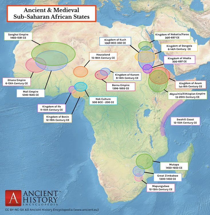 Map Of Ancient Medieval Sub Saharan African States With Images