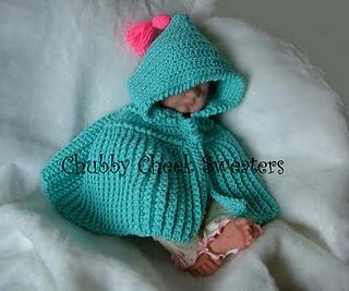 Free Crochet Bonnie Baby Poncho Pattern: Bonnie Baby, Babies, Red Riding Hood, Baby Ponchos, Free Crochet, Ponchos Patterns Would, Crochet Baby, Ag Dolls, Crochet Patterns