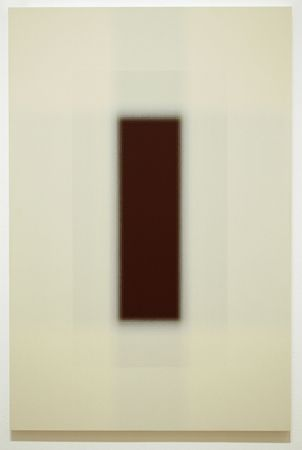 Patsy Krebs Untitled H.D. (Ivory/Maroon), 2007 Acrylic on wood panel 30 x 20 inches  HG9581