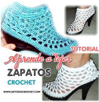 Tutoriales de zapatos tejidos