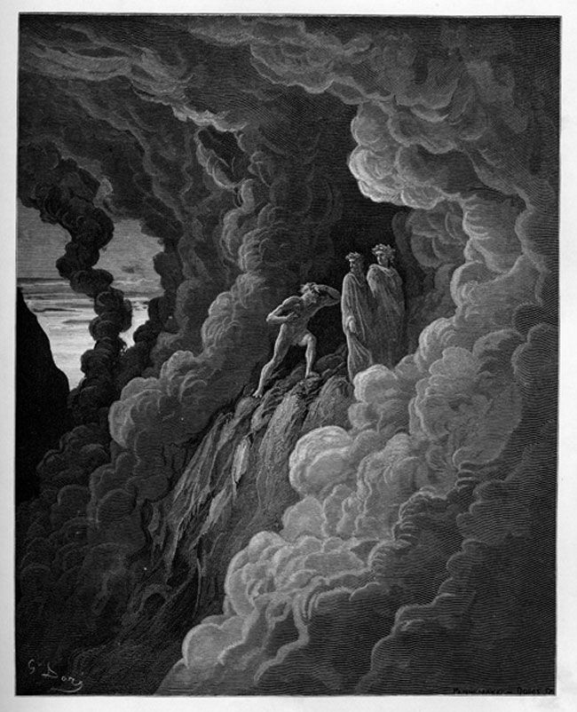 an analysis of the christian themes in purgatorio by dante alighieri Read and learn for free about the following article: dante's divine comedy in  late  and how about the better parts of the christian afterlife how do you  imagine them  reaches of hell (inferno), purgatory (purgatorio) and paradise ( paradiso)  with the imagination of an artist rendering a visual interpretation of  his words,.
