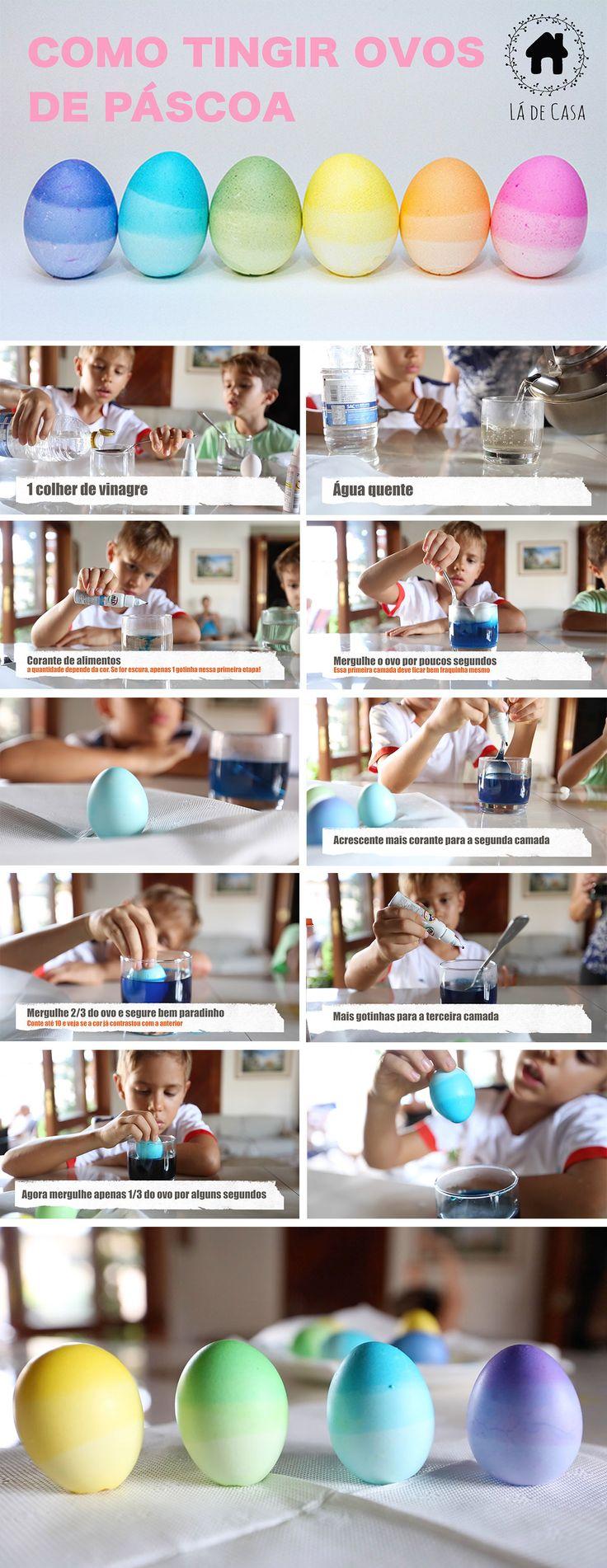 DIY: Como pintar ovos de páscoa usando corante de alimentos