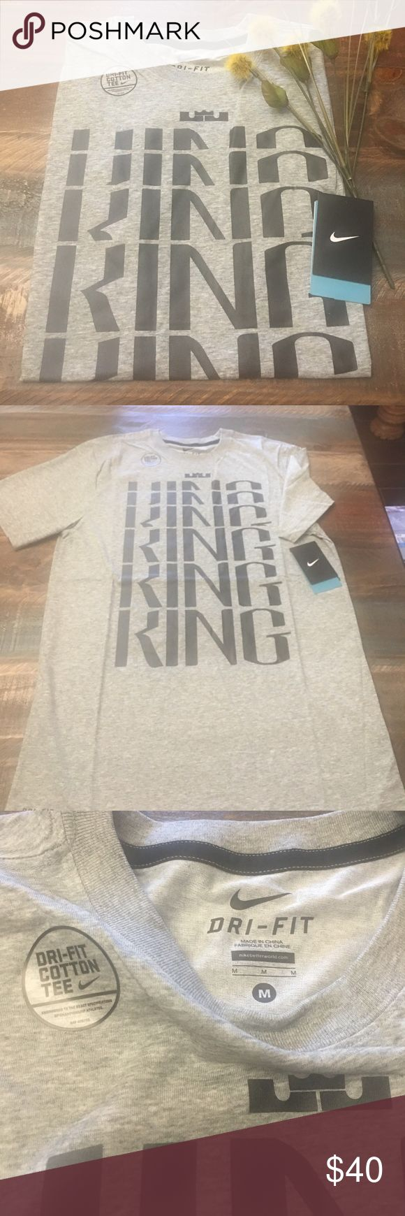 🛍🎉🛍 NWT Lebron James NIKE TEE Brand new Nike Dri-Fit Cotton Tee FIRM ON PRICE! already reduced 🎁🎊 Nike Shirts Tees - Short Sleeve