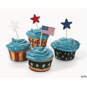 Patriotic cupcakes :)