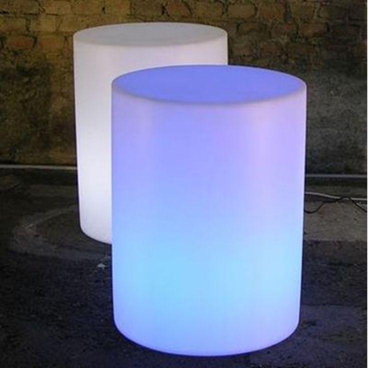 Objets Lumineux V067366>polypropylène Fauteuil Et Pouf Lumineux Cilindro – Taille : Taille Unique