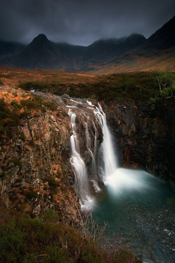 A Long Drop.  The Fairy Pools on the Isle of Skye.  by Jeanie.