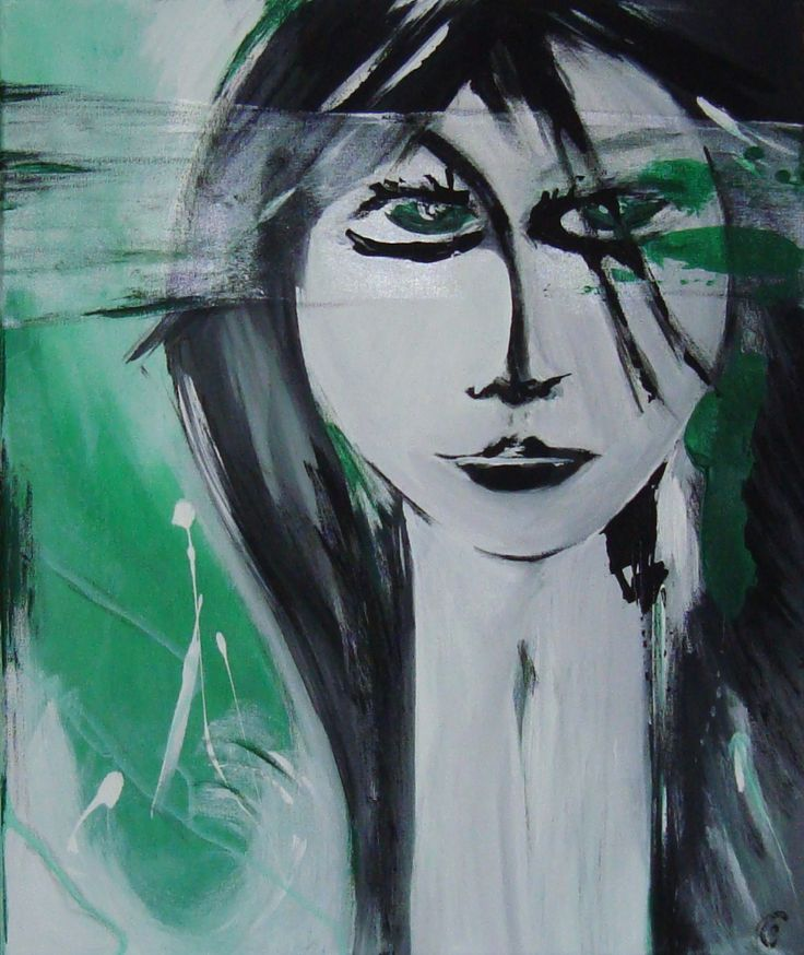Green Eyes painting contamporary art