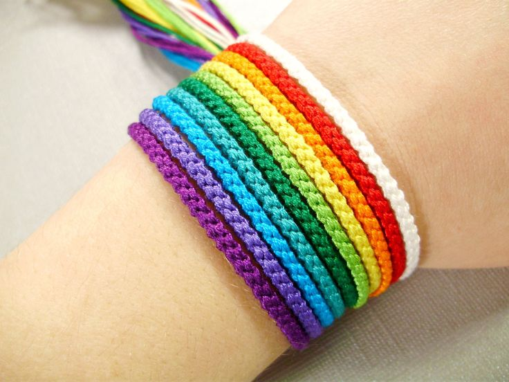 Rainbow Friendship Bracelet Set Friendship Bracelets for