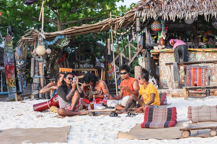 Ko Lipe has some beach bars but it is not really a party island.