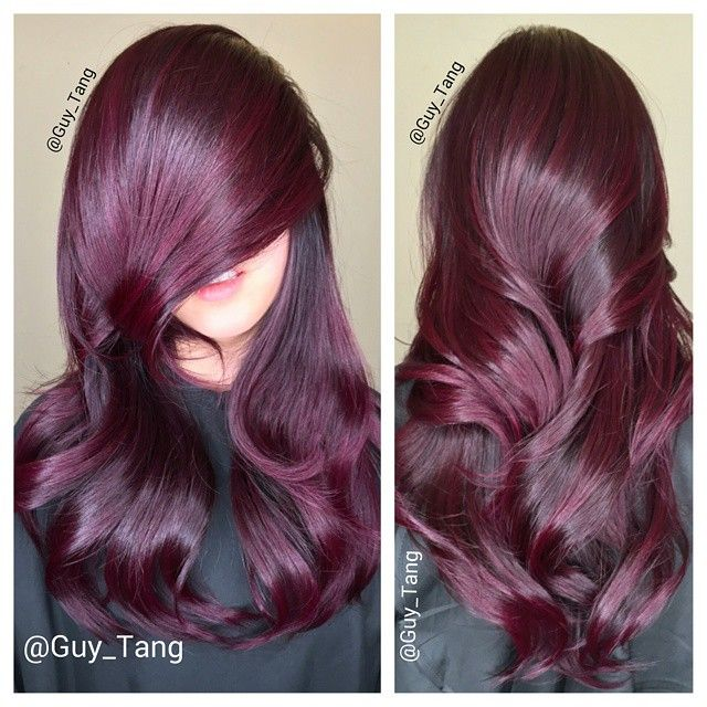 Fall into #balayage with my client @raeview I wish more people would do red in LA! Who else loves red?! #TeamRed #guytang